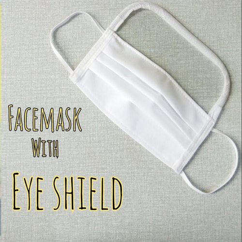 Face mask with eye shield 1